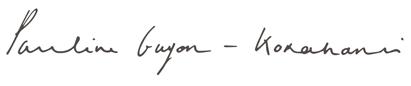 signature pauline guyon